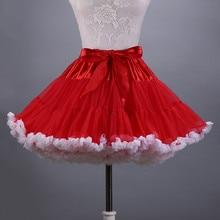 2019 Two Layers Tulle Skirt Womens  Ruffles Colorfull 45CM Part Dance Tutu Underskirt