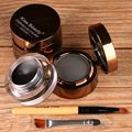 New 2Pcs/lot Waterproof Eyeliner Gel Black Brown Eye Makeup Cosmetic Gel Eye Liner Cream Set 24 Hours Long-lasting For Women