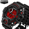 Top Brand SANDA Men Watches Clock LED Digital Watch Men Waterproof Army Military Mens Sport Wristwatches Relogio Masculino Gift