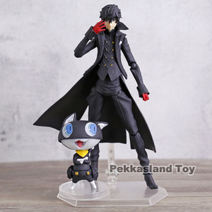 Image 1 - Persona 5 Shujinkou and Morgana Joker Figma 363 Moveable Action Figure Collection Model Doll Toy