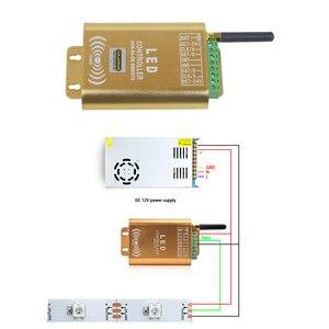 Image 2 - 2048 Pixel WIFI Verbinding SPI Controller LED Music Controller Met Micphone voor Droom Kleur Strip Verlichting