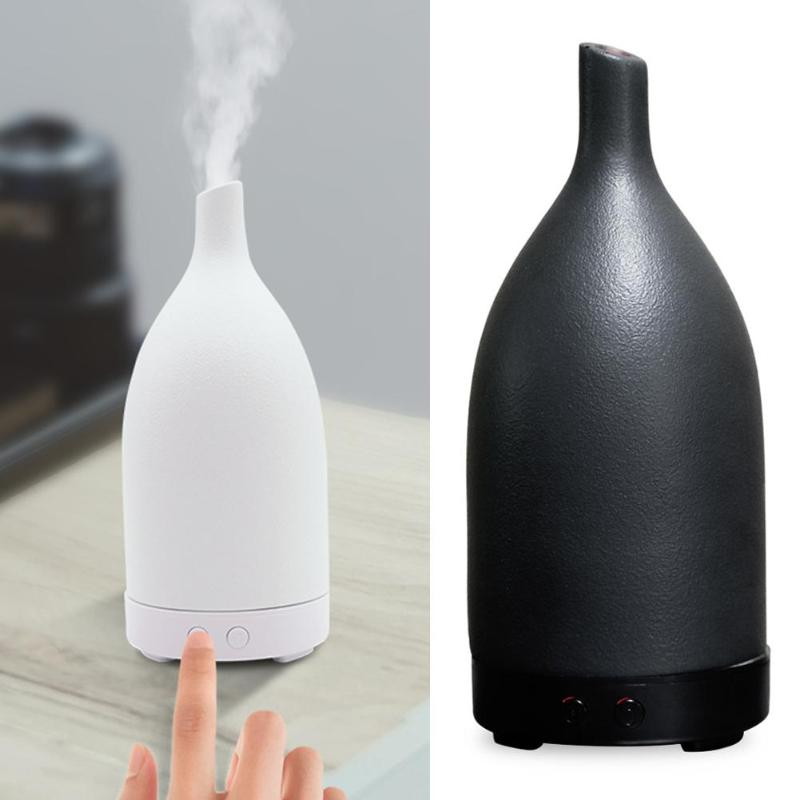 100Ml Ceramic Air Humidifier Fresher Ultrasonic Humidifier LED Light Aroma Diffuser Mist Maker Essential Oil Diffuser For Home