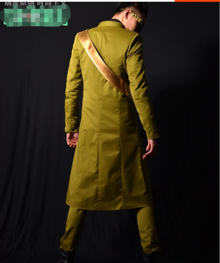Afficher De Long Vert Outer Nuit Revers 6xl Qualité turquoise S Upper Mâle Garment Costume 2018 Club Veste Style Bar Chanteur Robe pants Militaire Haute Sw4WUSPRqc