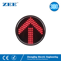 12 inches 300mm Red Arrow Replaced Traffic Light Modules Round Standard Repaired LED Traffic Lamp