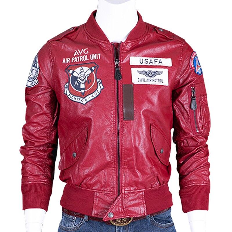 Плюс Размеры 4XL автомобильной Байкер Desigenr мужские кожаные куртки пальто нам Стиль Air Patrol Unit Куртки из искусственной кожи мотоцикл мужские па