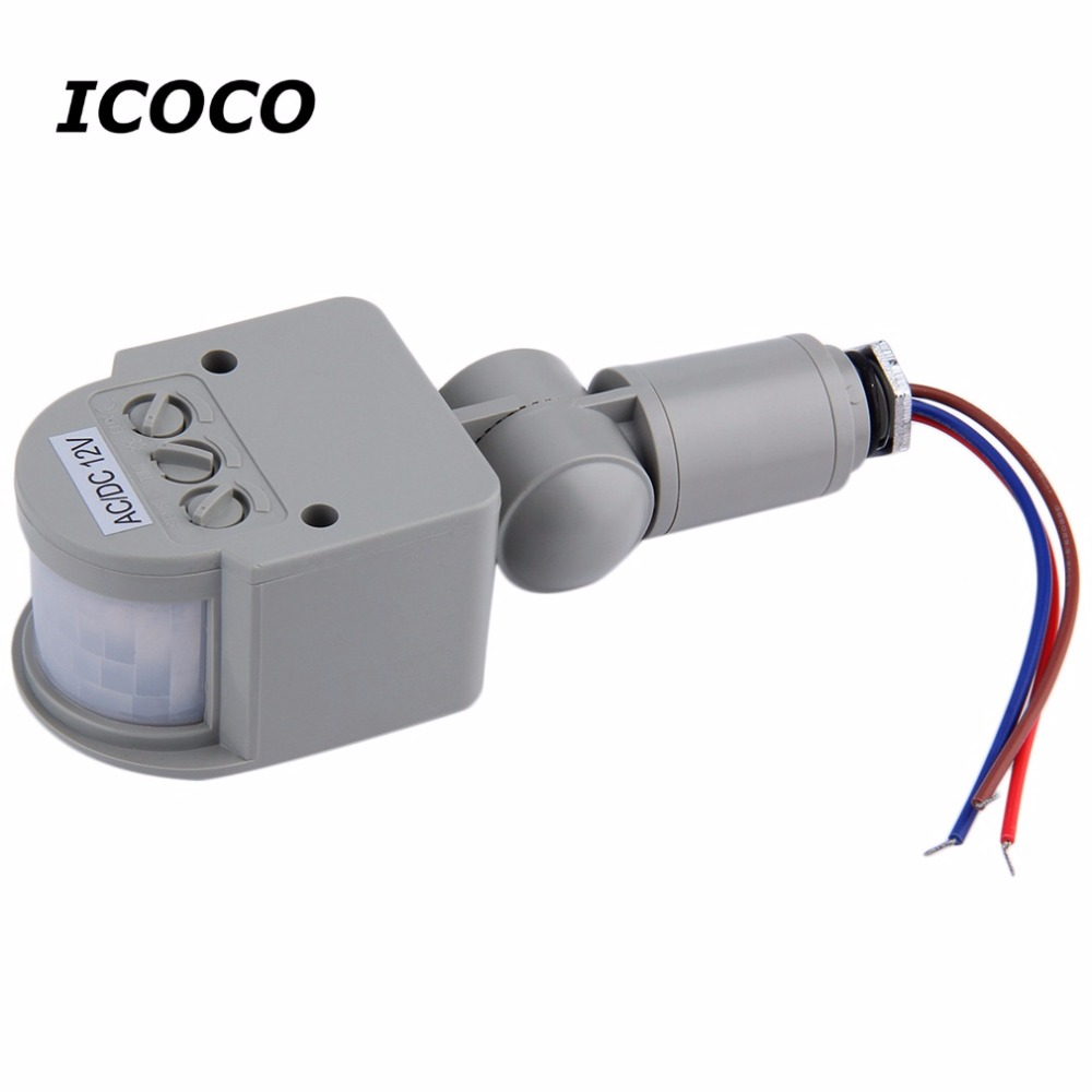 1Pc DC/AC8V-12V Automatic PIR Infrared Motion Sensor Detector Switch for LED Light Security Quality Indoor Outdoor Drop Shipping automatic motion sensor light switch outdoor infrared pir motion sensor detector switch ac90 250v for led light lamp