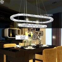 Art Led Lamps Restaurant Crystal Chandelier Circular Bedroom Modern Minimalist Lighting High End European Style Chandelier