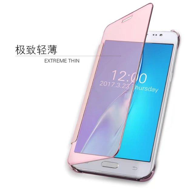 For Samsung Galaxy 2015 J3 J5 <font><b>J7</b></font> /2016 J1 J2 J3pro J5 <font><b>J7</b></font> Smart Plating Mirror PU Leather+Hard Plastic Flip <font><b>Phone</b></font> <font><b>Case</b></font> Cover Capa