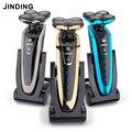 Электробритва JINDING 5 Blade для мужчин  перезаряжаемая бритва  оригинальная моющаяся 3D плавающая головка для бритья бороды