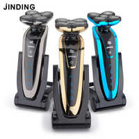 JINDING 5 Blade Electric Shaver for Men Rechargeable Razor Original Shavers Washable 3D Floating Head Shaving Beard Machine