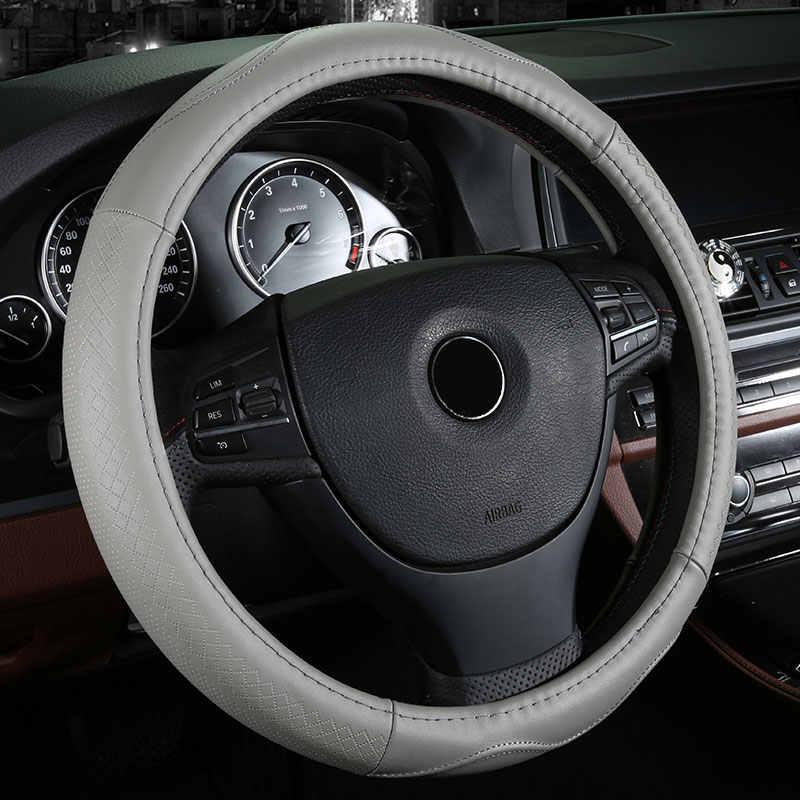 หรูหราหนังแท้รถใหม่พวงมาลัยปกอุปกรณ์รถยนต์สำหรับออดี้80 a7 a8 a8l q2 q3 q5 q7 S3 S4 S5 s6 S7 S8 SQ5 SQ7