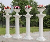 2pcs Fashion Wedding Props Decorative Roman Columns White Color Plastic Pillars Road Cited Party Event