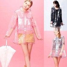 אופנה מעיל גשם שקוף גברים נשים יוניקס פונצ'ו Hoodie מעיל גשם מעילי גשם מעילי גשם