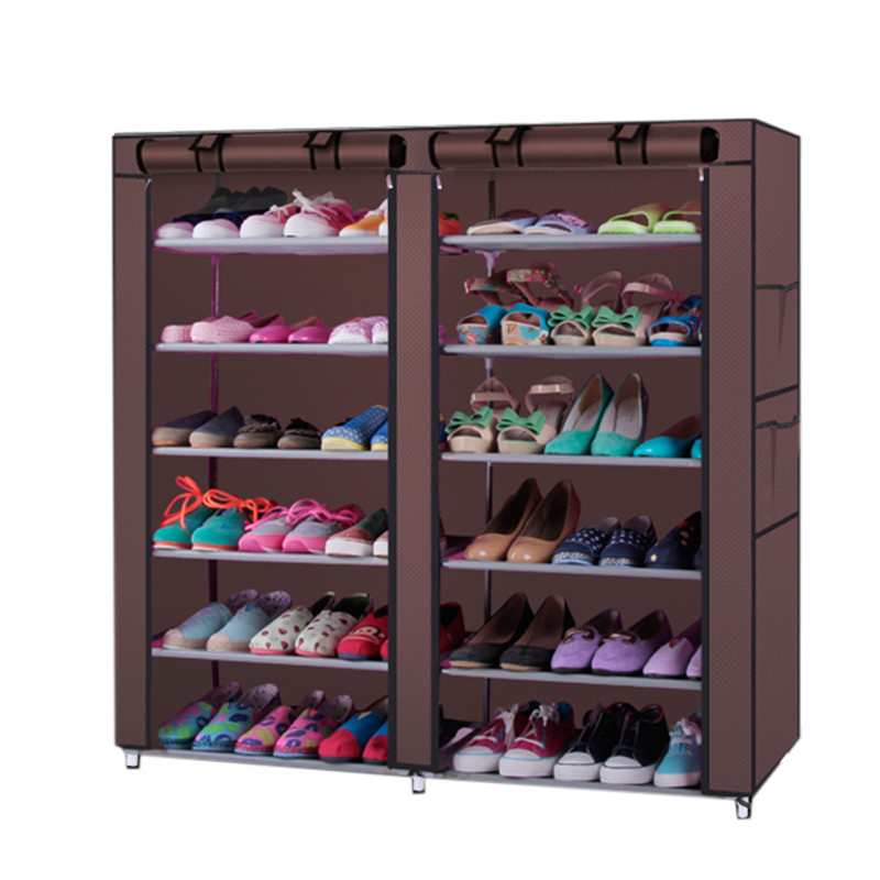 Multi Layer Shoe Rack Nonwoven Fabric Steel Pipe home Shoe cabinet Shelf Storage Organizer Holder Space Saving 6-Row 2-Line     Multi Layer Shoe Rack Nonwoven Fabric Steel Pipe home Shoe cabinet Shelf Storage Organizer Holder Space Saving 6-Row 2-Line
