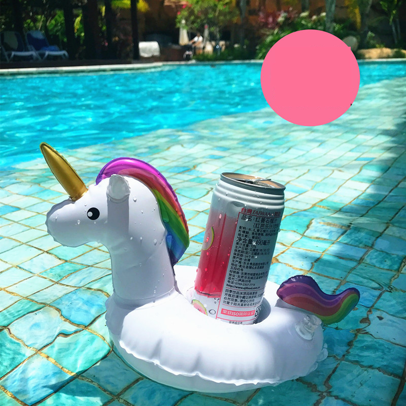 Beverage Boats Phone Stand Floating Holder Unicorn Pool Floating Drink Coasters Inflatable Cup Holder Pool Decoration DS39