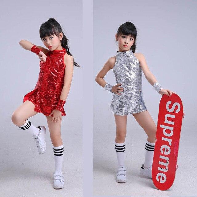 137c97ab51a8 Children stage Dancewear Kid Hip hop hip hop Jazz Dance costume Suit ...