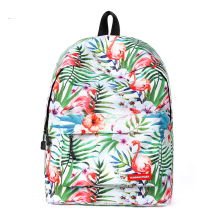купить Female Backpack Bags Waterproof Travel Daypack Flamingo Printing Bookbags High Quality Mochila Escolar Feminina Hot Selling дешево