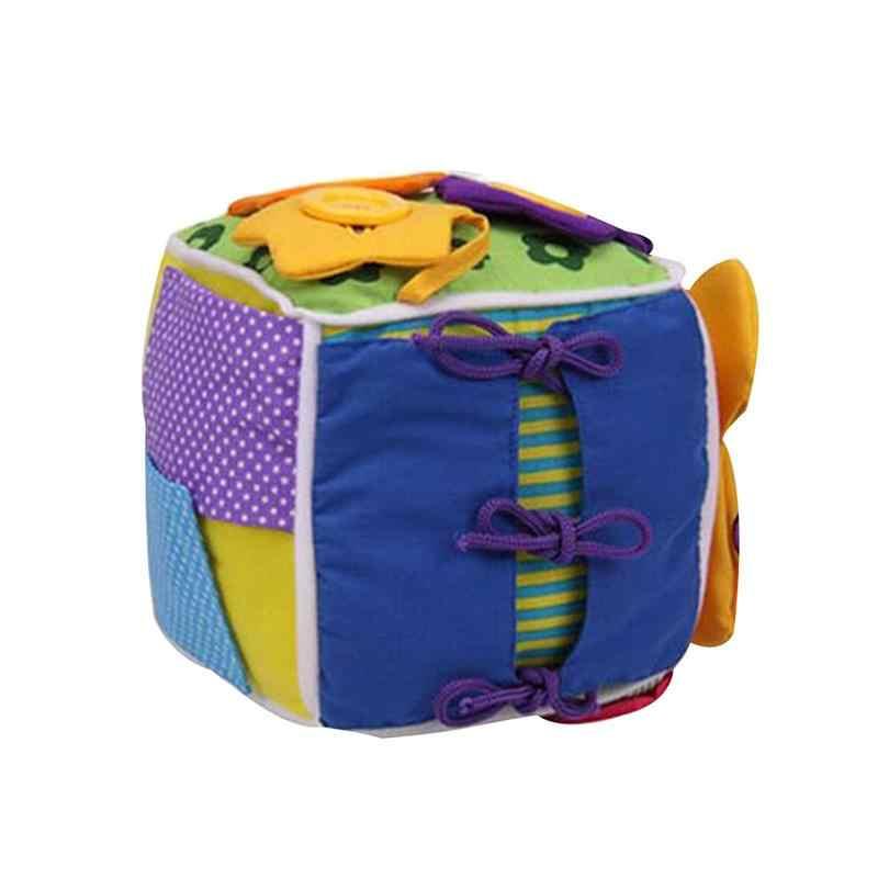 Шестисторонняя коробка туалетный шнурки вязаная одежда сумка строительный блок многофункциональная Туалетная игрушка коробка ранняя обучающая головоломка для Чи
