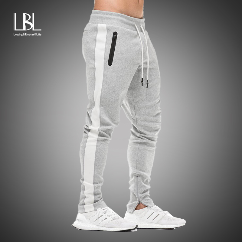 2019 Men Jogging Pants Hip Hop Sportswear Fitness Joggers Trousers Mens Streetwear Track Pants Gyms Sweatpant Pantalon Hombre