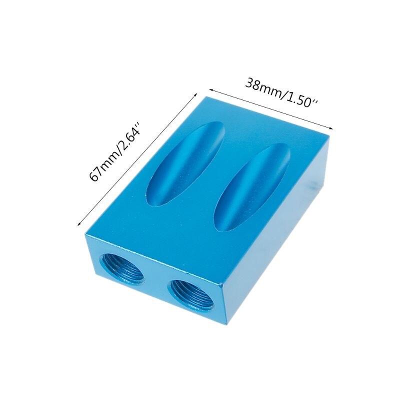 Набор зажимов для карманных отверстий, адаптер привода 6/8/10 мм для деревообработки, угловой направляющий инструмент для сверления отверсти...
