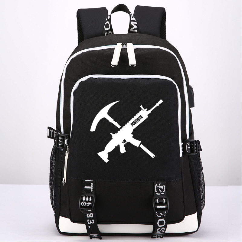 New Game Fortnite Battle Royale School Backpack External USB Charge Headset port Laptop Backpacks Travel Shoulder Bags