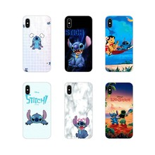 Para o iPhone Da Apple X XR XS MAX 4 4S 5 5S 5C SE 6 6 S 7 8 Plus ipod toque 5 6 Shell Transparente Macio Covers Bonito Dos Desenhos Animados Lilo Ponto(China)