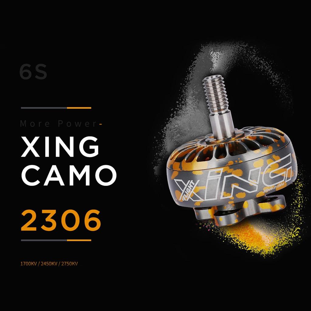 iFlight XING Camo 2306 1700KV 2450KV 2750KV Brushless Motor 2-4S For RC Drone Accessories Toys for Children