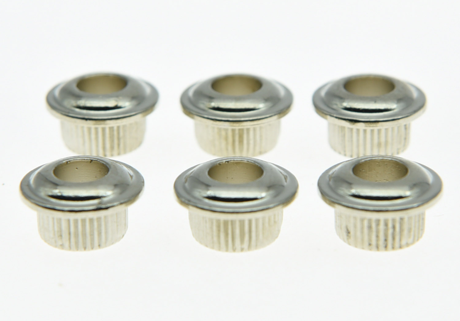 Nickel 10mm Metall Vintage Guitar Tuner Umwandlung Bushings Adapter Ferrules