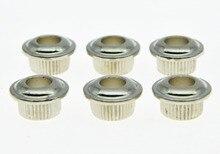 30x Nickel 10mm METAL Vintage Tuners Conversion Bushings Adapter Ferrules