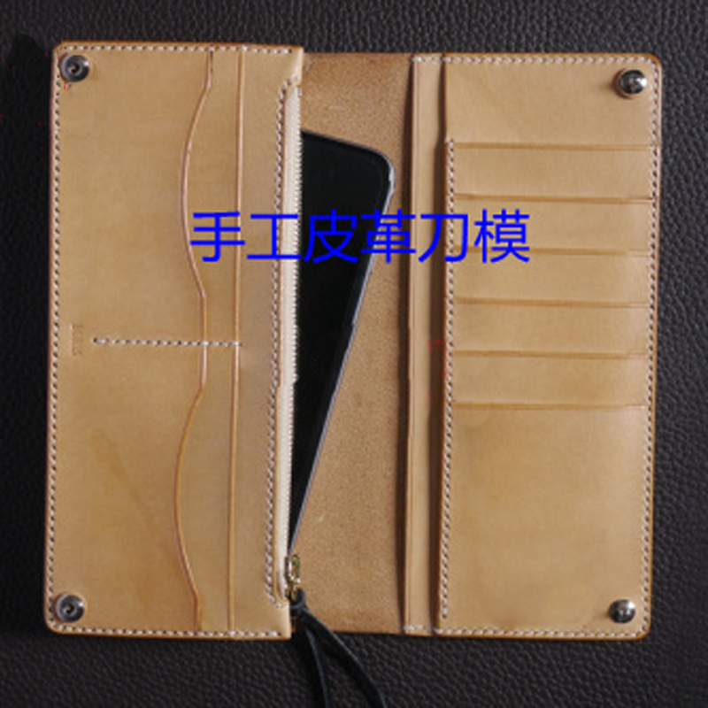 leather craft template cutter long folded wallet card holder die cutting knife mould leather punches tool