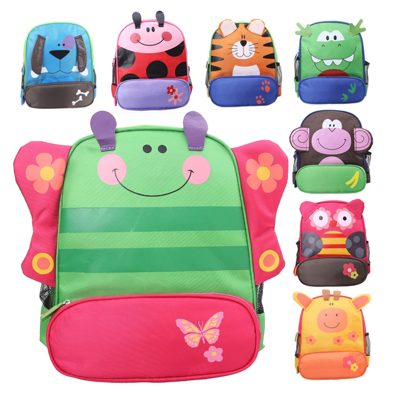 Small Cute Kids School Bag Colorful Cartoon Animal Kindergarten Primary School Backpacks for Little Girls, Boys Children children school bag minecraft cartoon backpack pupils printing school bags hot game backpacks for boys and girls mochila escolar