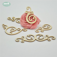 Hobby Craft Vintage Wood Shapes 24pcs/lot Laser Cut Decorative Hollow Out Natural Pine DIY Crafts Home Decoration Party