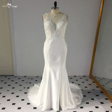 LZ262 Yiaibridal Beaded Wedding Dress Ivory Lace Backless