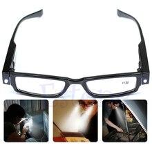 Многофункциональные светодиодные очки для чтения, очки для очков, Диоптрийная Лупа с подсветкой A27542
