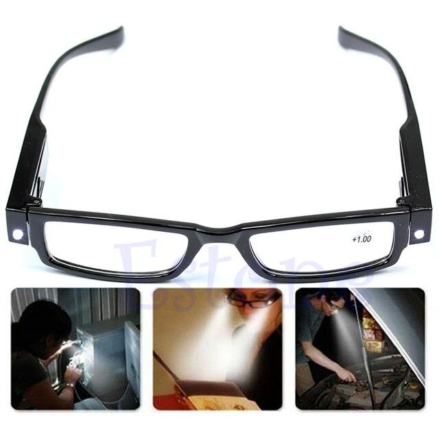 ac66adbe5e De fuerza LED gafas de lectura gafas dioptrías lupa luz A27542 en ...