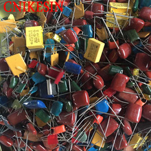 CNIKESIN 100g/pack Mixed polyester capacitors miscellaneous polyester capacitors imported electronic polyester capacitor(Random