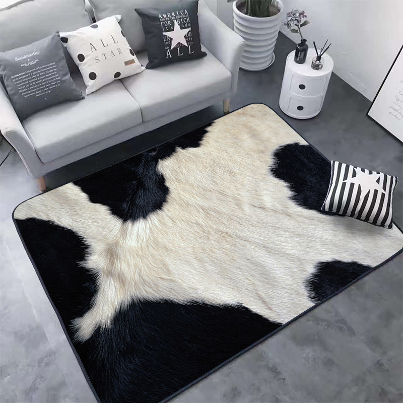 Creative 3D Leopard/Zebra/Cow/Tiger Printed Animal Fur Rug Mat For Living Room Area Rug Carpet  Tapetes Para Sala De Estar