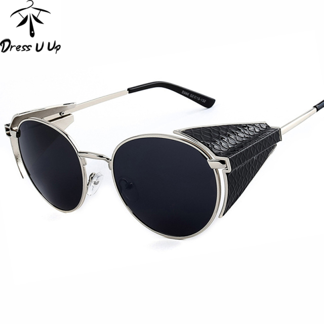 New 2016 Steampunk Retro Coating Mens Vintage Round Sunglasses Men Women Brand Designer Gafas Oculos De Sol Feminino Sun Glasses