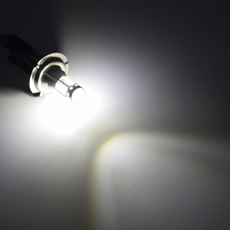 2PCS Automotive LED Fog Light Bulbs H7 80W Fog Tail Driving Car Head Light Lamp Bulb Super Bright 9V-30V.06
