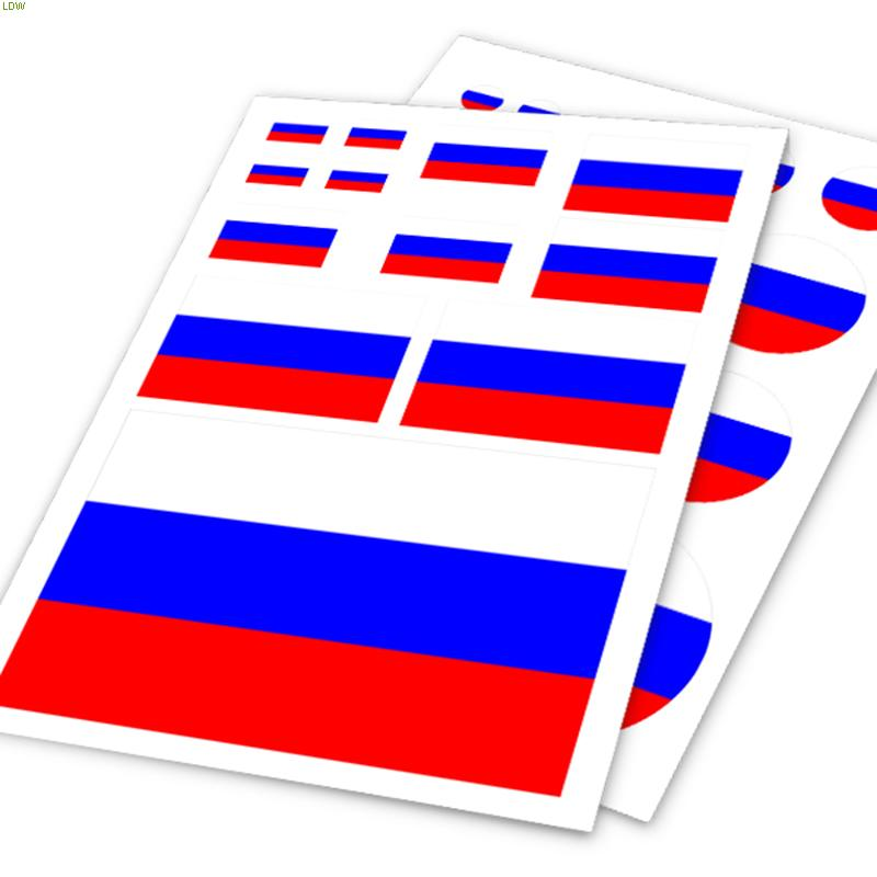 RUSSIA flag color stripes design car stickers,grossy film car vinyl accessories decals for LADA and so on