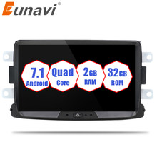 Quad Core Pure Android 7.1 GPS Navigator Radio car dvd For Renault Dacia Duster Logan Sandero stereo Central Cassette Player(China)