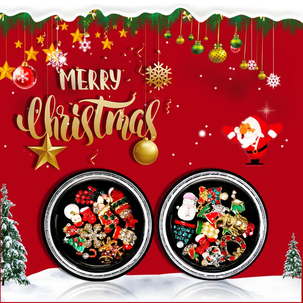 Xmas Nail Transfers: Christmas Nail Art Decals Cute Alloy Xmas Tree Snowman