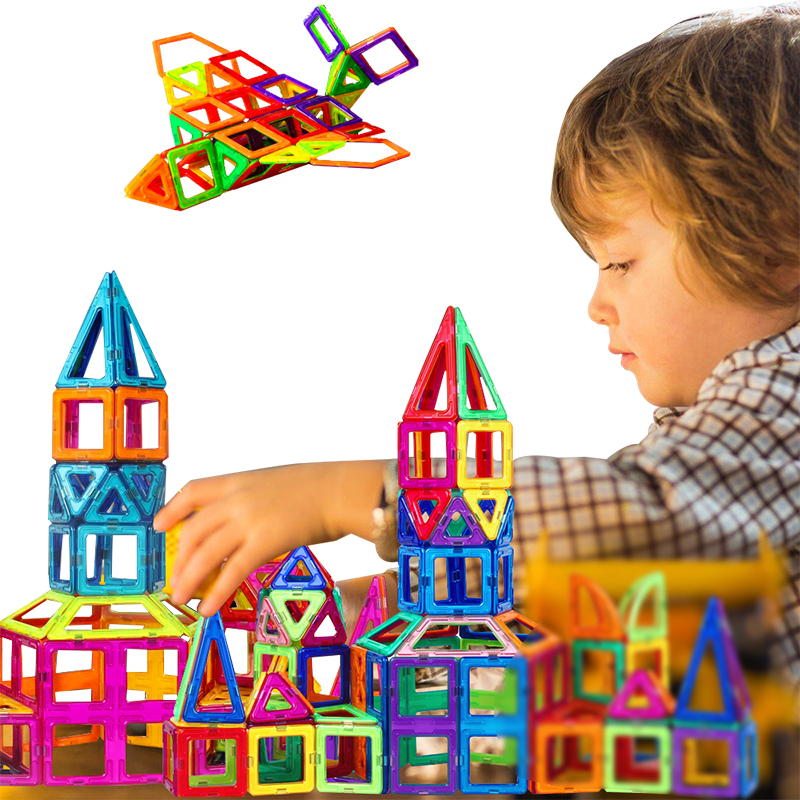 Mini 268Pcs/Set Models & Building Toy Magnetic Designer Educational Building Blocks Plastic Assemble Enlighten Bricks Kids Toys 62pcs set magnetic building block 3d blocks diy kids toys educational model building kits magnetic bricks toy