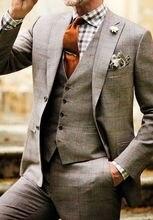 Tweed font b jacket b font suit gap LAPEL SUIT two button dance form bridegroom suit