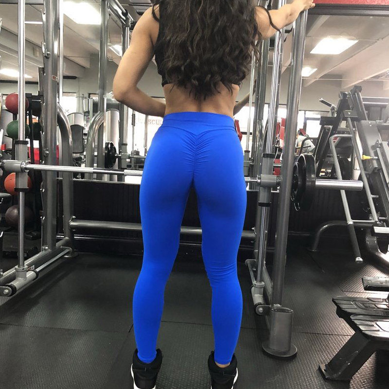 2020 Women Leggings Polyester High Quality High Waist Push Up Legging Elastic Casual Workout Fitness Sexy Bodybuilding Pants 3
