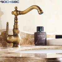 BOCHSBC Full Copper Antique Tap Vintage Hold and Cold Water Basin Faucets Classical Badkamer Kraan