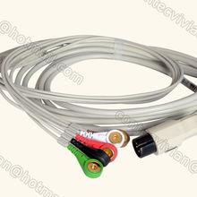 6PIN 5-цельный кабель ЭКГ кабель Для CONTEC монитор пациента CMS6000/CMS8000, ТПУ, B Тип, оснастки