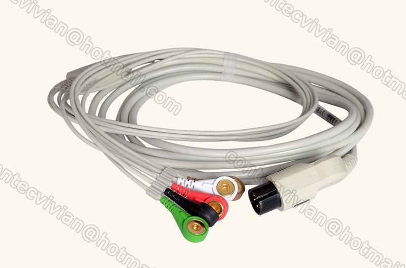 6PIN 5 Lead ECG cable for CONTEC Patient Monitor CMS6000/CMS8000,TPU,B type,Snap