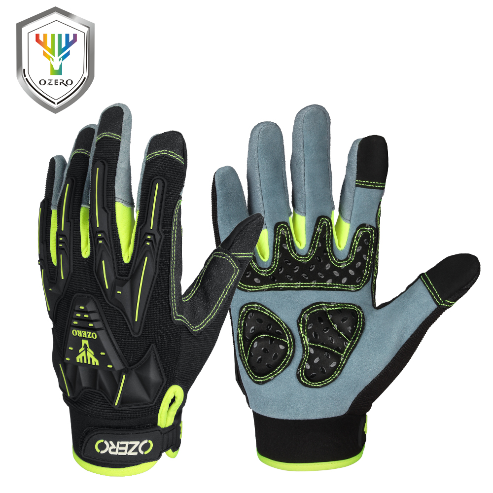OZERO Work Gloves Men's Tactical Genuine Driver Security Protection Safety Workers Patrol & Work Mechanic Gloves 8016