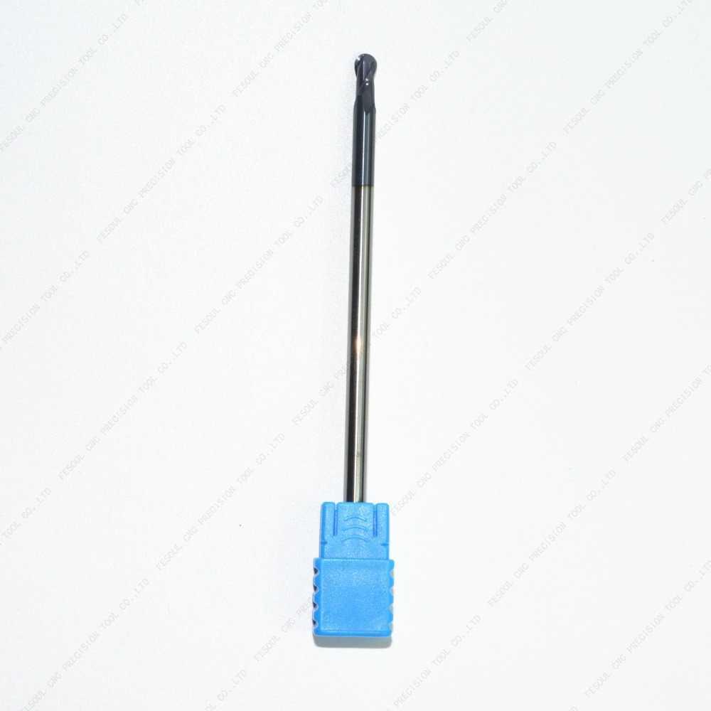 D4 * R2 * 8C * 100L-1PCS, Freeshipping HRC45 2 Flute sfera naso CNC solid carbide end mill, acciaio al tungsteno Rivestimento Tialn fresa